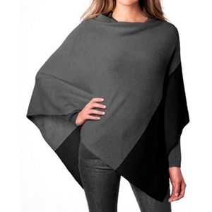 Celeste Cashmere Lama wool soft color block poncho